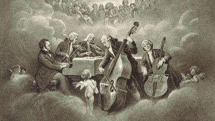 »Trout Quintet in Heaven« (postcard)