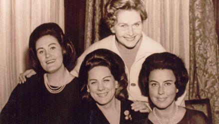 J. Sutherland, R. Tebaldi, E. Schwarzkopf und L. della Casa in New York