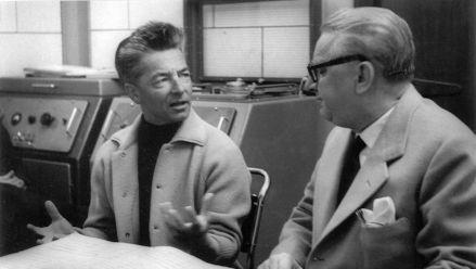 H. von Karajan und W. Legge