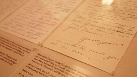 Handgeschriebener Brief von M. Callas an W. Legge