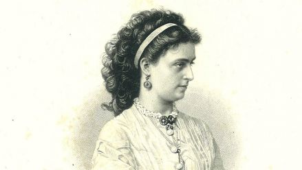 Lilli Lehmann (steel engraving by Weger)