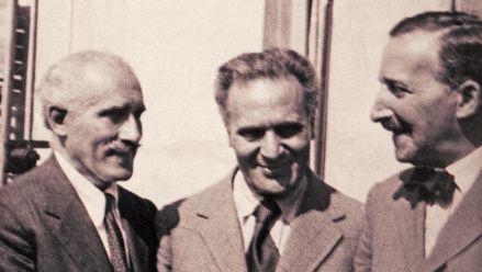 S. Zweig, A. Toscanini und B. Walter, Salzburg 1934