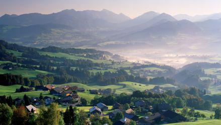 Bregenzerwald, Blick auf Schwarzenberg  © Popp & Hackner / VT